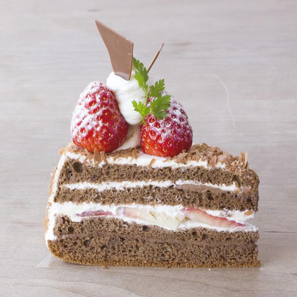 生チョコクリームのショートケーキ